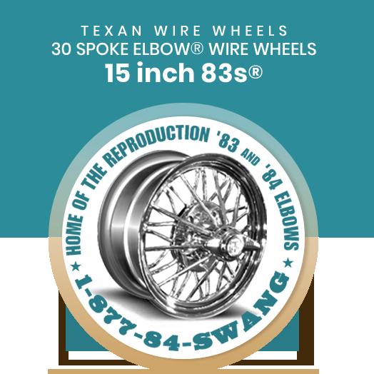 Texan Wire Wheels 15 inch 83s 30 Spoke Wire Wheels
