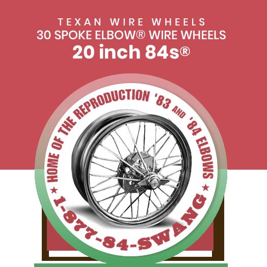 Texan Wire Wheels 20 inch 84s 30 Spoke Wire Wheels