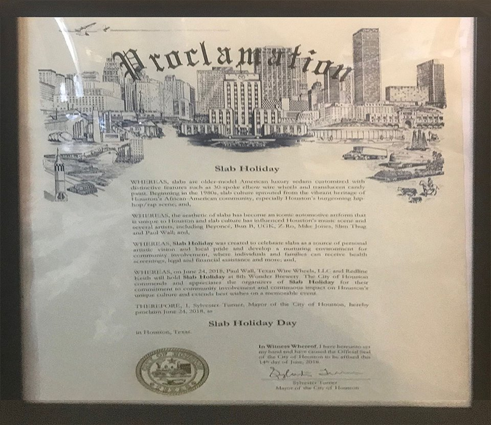Houston Slab Holiday Proclamation