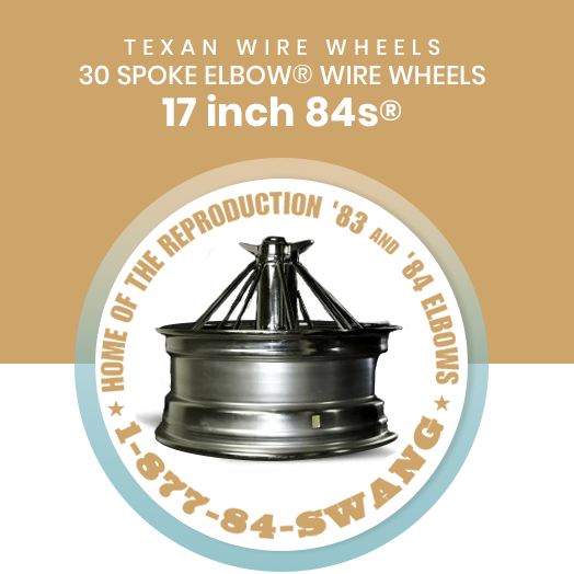 Texan Wire Wheels 17 inch 84s 30 Spoke Wire Wheels