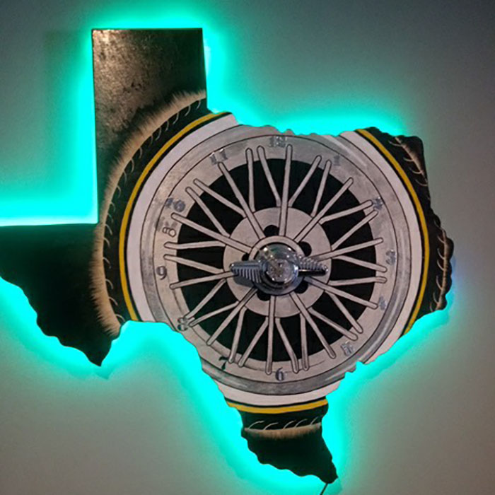 Texas Shape Analog Clock